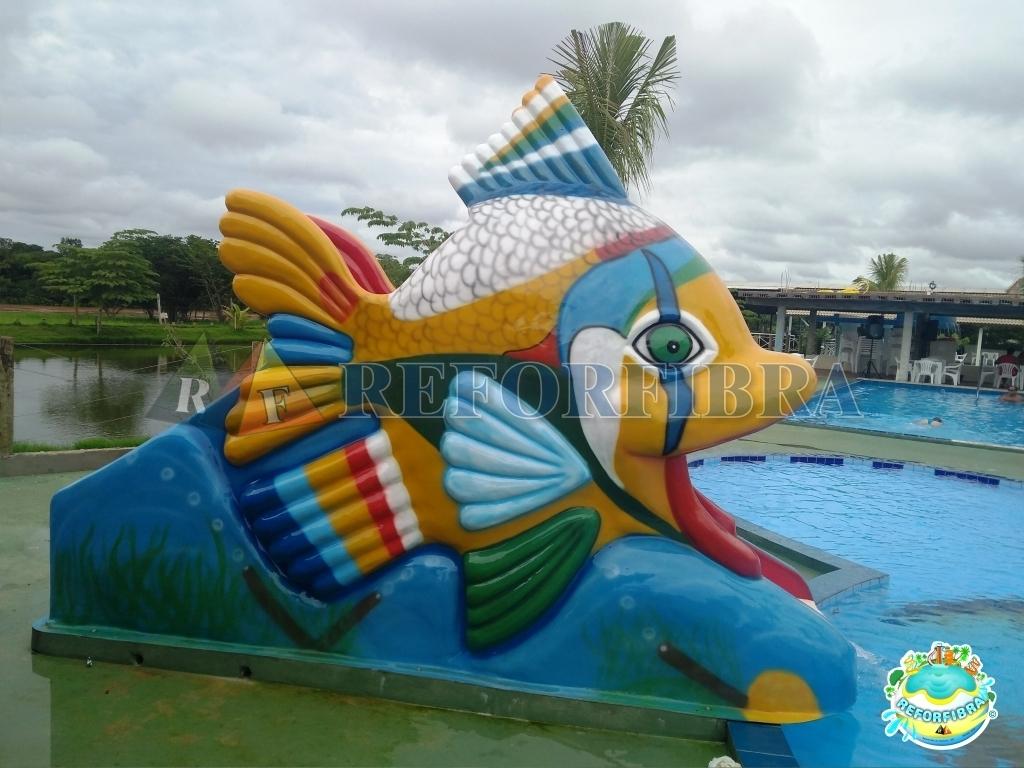 009 - Escorregador Aquático Modelo Peixe