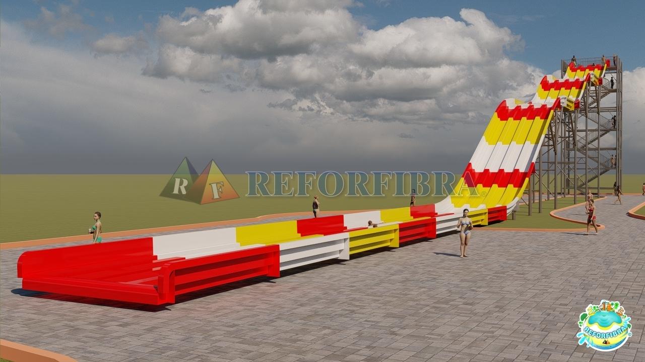 05-A - Rampa Aquática Racer 87M (Escape na canaleta)